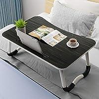 ZZHF ベッドラップトップテーブル、折り畳み式ベッドルーム机のゲーム雑誌朝食怠惰なテーブル デスク (色 : 2, サイズ さいず : 60*40*28cm)