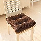 LifeStar 低反発座布団 クッション 腰当て おしゃれ 健康クッション 座椅子 椅子用 ソファ枕 腰枕 滑り止め スクエアタイプ 無地 8色選べる 42cm×42cm ダークコーヒー