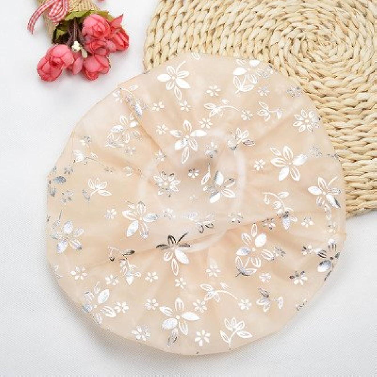 Maltose 防水シャワーキャップ 弾性 入浴キャップ帽子 シャワー用に ヘアキャップ ヘアーターバン 再使用可能 浴びる 便利 2枚セット