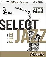 CAムAS SAXOFON ALTO - DエAddario Rico (Select Jazz) Filed (Dureza 3 MEDIA) (Caja de 10 Unidades)