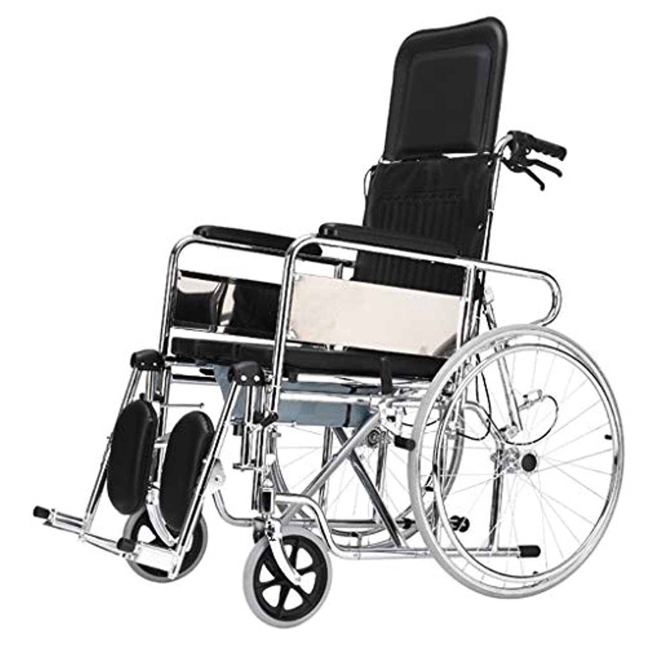 つらい住む大砲車椅子トロリー屋外旅行パートナー、多機能フルレイ/セミライニングデザイン、高齢者障害者車椅子