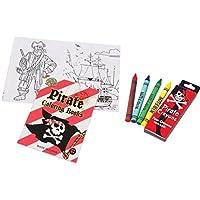 Mini Pirateカラーリングset- 12 Mini Pirateカラーリングブックand 12ボックスの海賊クレヨン