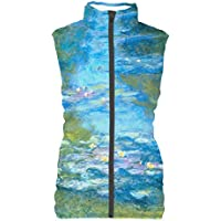 Rainbow Rules Monet Water Lillies Womens Puffer Vest Bodywarmer Gilet