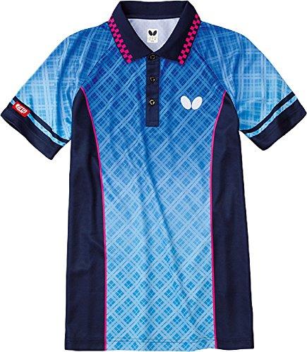 バタフライ(Butterfly) 男女兼用 卓球 ユニフォーム フルコラル・シャツ 45130 ブルー(177) L