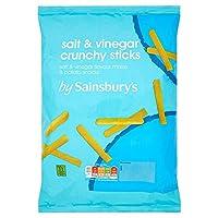 (Sainsbury's (セインズベリー)) 塩カリカリスティック140グラム (x2) - Sainsbury's Salt Crunchy Sticks 140g (Pack of 2) [並行輸入品]