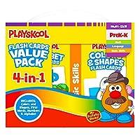Playskool Flash Cards Value Pack - Alphabet/First Words/Shapes & Colors/Numbers PreK - K by Playskool