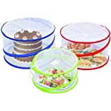 Outdoorwares 3 Pop Up Food Cover Protectors Set | Fine Mesh Screen, Bottomless & Collapsible Design with Handles | Keep Bugs,