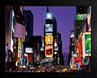 New York City - Time Square At Night Framed Poster - 43x53cm