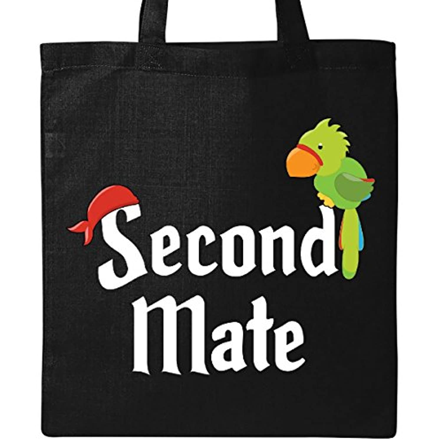 Inktastic – Second Mate Pirate with parrot andバンダナトートバッグ One Size ブラック