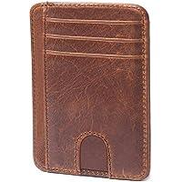 Apsung Slim Minimalist Front Pocket RFID Blocking Leather Wallets for Men Women