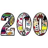 ZheYe 200枚防水紙ステッカー シール ストリートオシャレデコレーション アニメステッカー 防水シール トラベルステッカー スーツケース、車、携帯など自転車、車(200枚)