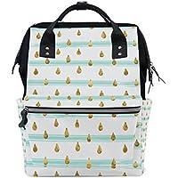 ママバッグ マザーズバッグ リュックサック ハンドバッグ 旅行用 しずく 金色 ファション