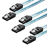 Zheino 50CM 7Pin SATA ケーブル SSD ケーブル HDD ケーブル 内蔵ハードディスク ケーブル 2.5 SATA ケーブル 3.5 SATA ケーブル データケーブル 光学ドライブ ケーブル セット シリアルATAケーブル SATA3 6Gb/s 精銅製ケーブル ブルー (3本)