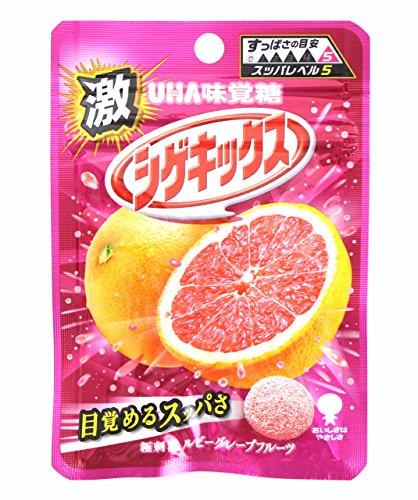 味覚糖 激シゲキックス 極刺激ルビーグレープフルーツ味 20g×10袋
