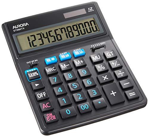 超大型卓上電卓 DT980TXB 1個 オーロラジャパン