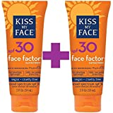 海外直送品Kiss My Face Sun Care Face Factor SPF 30, EA 1/2 OZ (Pack of 2)