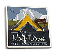 Visit Half Dome–Off The Grid (テント) 4 Coaster Set LANT-83767-CT