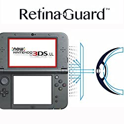 RetinaGuard New 3DS LL   3DS LL ブルーライト90%カット保護フィルム(上部画面4.88型)
