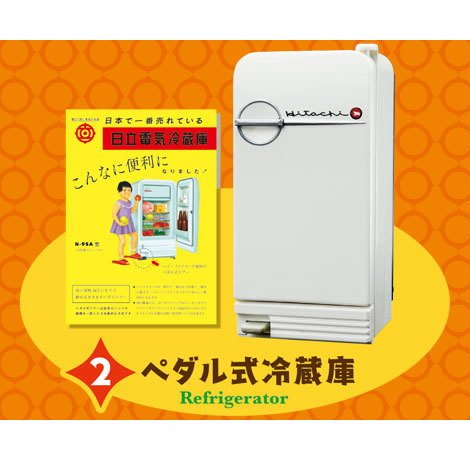 日立のなつかし昭和家電 [2.ペダル式冷蔵庫(N95-A)]...