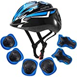 ArgoHome Kids Helmet Protective Gear Set Toddler Helmet Kids Knee Pads for 3-8 Years Toddler Youth Bike Skateboard Helmet Kne