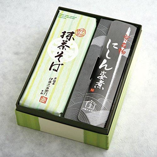 伊藤久右衛門 宇治抹茶にしんそば 茶そば ギフト 乾麺 蕎麦 2人前×3袋 ニシン3本 箱入り N-2