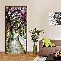 Mingld 3Dステレオ花ギャラリー写真壁の壁画DiyのドアステッカーPvc自己接着防水リビングルームの家の装飾フレスコ画-280X200Cm
