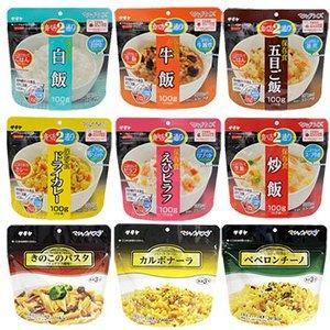 サタケ マジック ライス & パスタ 9種類18食セット (長期保存 防災 非常食 保存食)