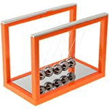 MagiDeal Newton Cradle Billiard Balance Ball Physics Science Pendulum Toy Xmas Birthday Gifts Orange - M
