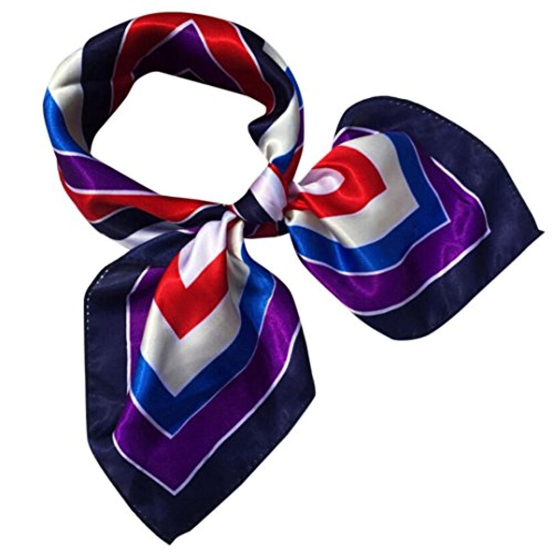 部切るつなぐDourabbi ファッション 女性 スクエアヘッド スカーフ 女性 プリント ケーキ ネック スカーフ ラップ