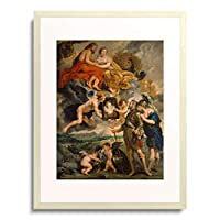 ピーテル・パウル・ルーベンス Peter Paul Rubens 「The Medici Cycle: Henri IV receiving the Portrait of Marie de Medici. 1621-25」 額装アート作品