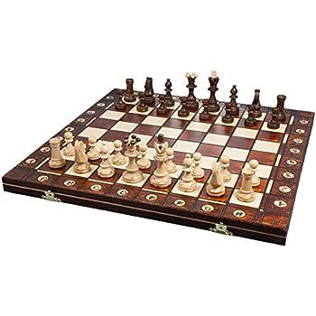 ポーランド製 木製チェスセット41cmチェス盤チェス駒セット Poland wood chess [並行輸入品]