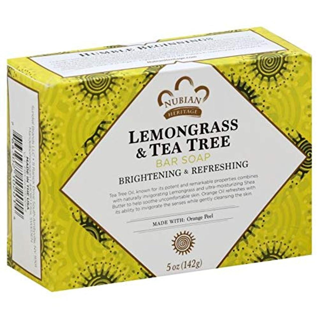 蓋力ネストNubian Heritage Soap Bar Lmngrs Tea Tree by Nubian Heritage