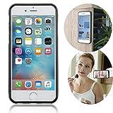 LEFON 吸着型 ハードケース 反重力ケース 耐衝撃 Anti-Gravity Selfie Case for iPhone6 plus4.7インチ /6s plus5.5インチ サムスンS6 Eage S 6 5 . 1寸 セルフィー ケース スマホケース アイフォン プラス カバー 平らな面に貼付けられる 両手を自由に (iPhone6 4.7インチ, 黒い) [並行輸入品]