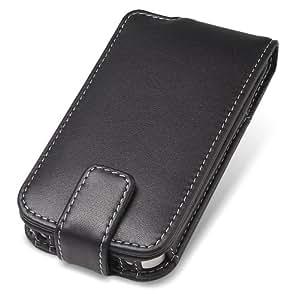 PDAIR レザーケース for iPhone 4S / 4 縦開きタイプ(ブラック) PALCIPOHN4F/BL