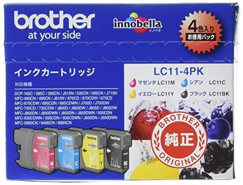 ブラザー インクジェットカートリッジ LC11-4PK 4色パック