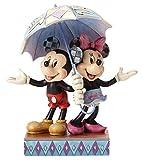 ディズニートラディション ジムショア 傘をさすミッキーマウスとミニーマウス ディズニーフィギュア 7.75インチ