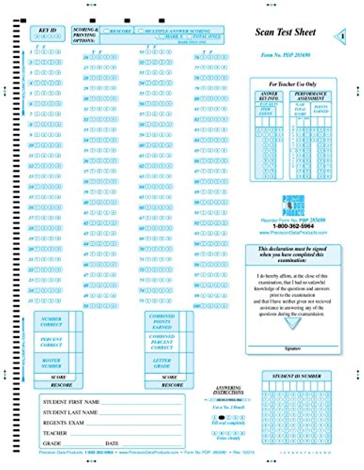 不名誉特権的負担PDP - 285690 ( 100 / Pkg、NY互換摂政テストフォーム