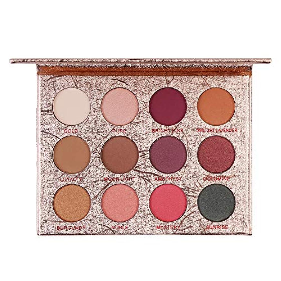 貫通成人期魅了する12色のきらめきのきらめきのアイシャドウの粉のマットのアイシャドウの化粧品の構造