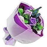 フレグランス シャボンフラワー ブーケフラワー 花束 FPP-806 (パープル)
