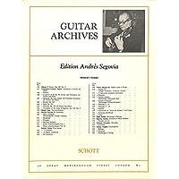 [冊子][楽譜]GUITAR ARCHIVES Andres Segovia No.123 Manuel M. Ponce SONATA ROMANTICA アンドレス・セゴビア