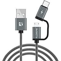 Floveme USBタイプC / Micro 2in 1USB高速充電ケーブル ブラック FLMYXF64838_1