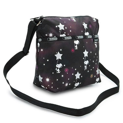 (レスポートサック) LeSportsac ショルダーバッグ 7562 G083/SNOOPY IN THE STARS ななめがけバッグ SMALL CLEO CROSSBODY ピーナッツ ポリエステル スヌーピーインザスターズ [並行輸入品]