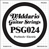 D'Addario PSG024 エレキギター弦 ProSteels Round Wound 024 バラ弦1本 (ダダリオ)