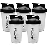 Lifespan Fitness 5X Protein Shaker Drink Bottle