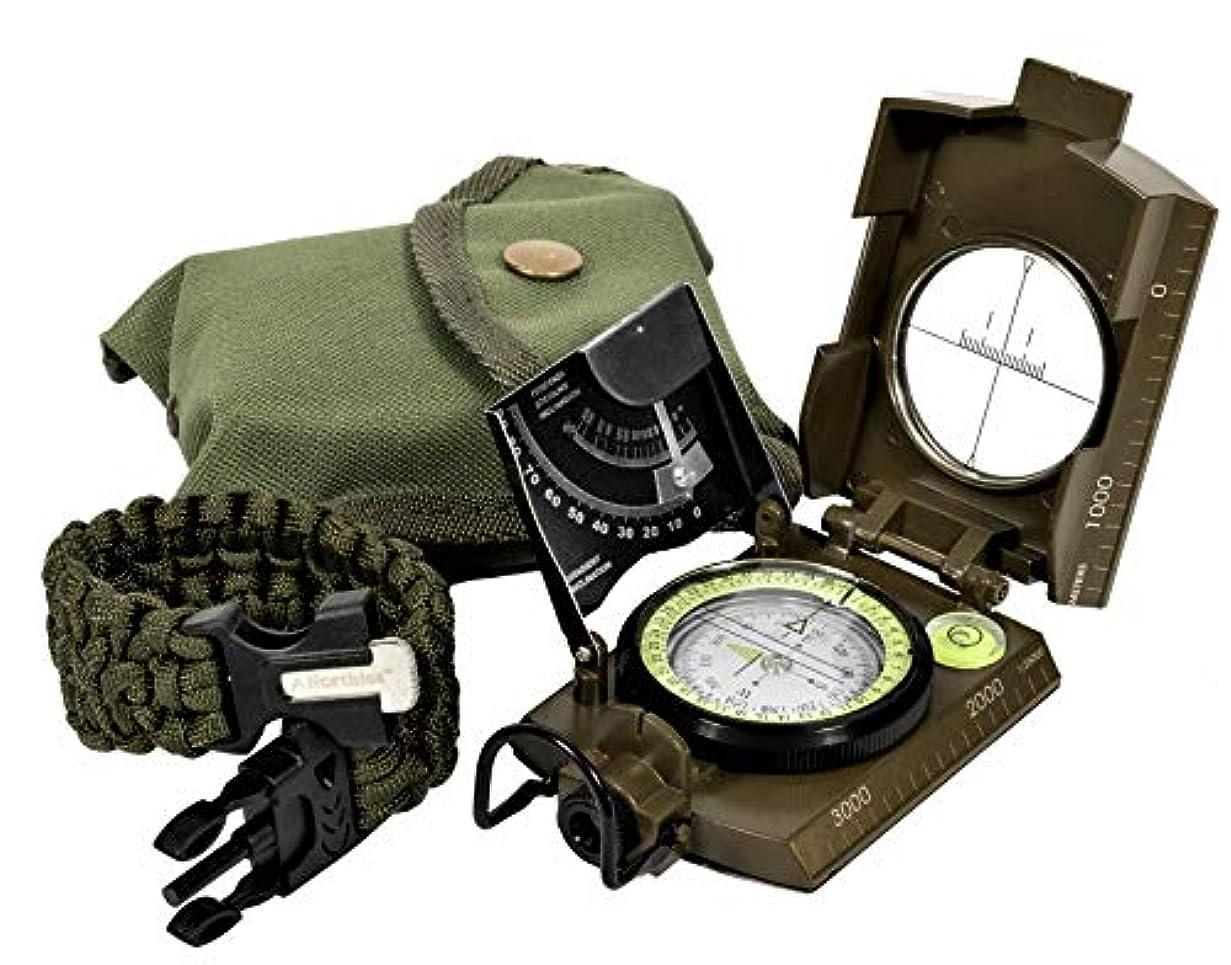 恋人幾分収束するNorthies Combo Pack Military Lensatic Sighting Compass and Paracord Survival Bracelet, Fire Starter, Whistle, Aluminum Alloy, Waterproof, Carrying Bag, Tactical Outdoor Gear for Camping and Hiking [並行輸入品]
