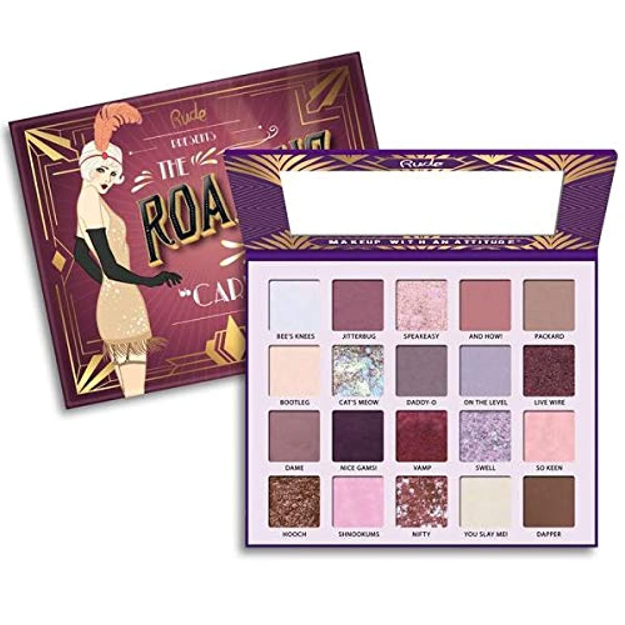 階段アライアンス南東(3 Pack) RUDE The Roaring 20's Eyeshadow Palette - Carefree (並行輸入品)