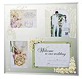 ユーパワー FOR WEDDING GIFT エターナリーローズフォトフレーム 4ウィンドー ホワイト HF-04011