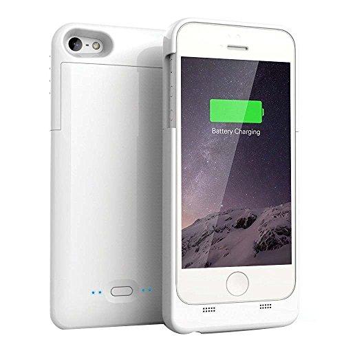 バッテリーケース [COOLEAD] Apple認証 (Made for iPhone取得) Maxnon iPhone5 /5s 用 2200mAh 緊急充電 急速充電 スリム バッテリー内蔵 モバイルバッテリーケース ホワイト