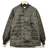 ノーブランド品 実物 イタリア軍 ジャケット用 キルティングライナージャケット ブラウン (46, ブラウン)