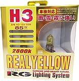 レーシング ギア ( RACING GEAR ) ハロゲンバルブ 【リアル イエロー 2800K】 H3 2個入り G30R